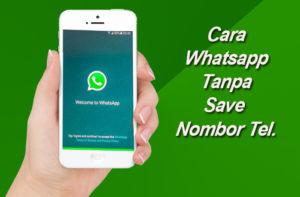 cara whatsapp tanpa save no memo