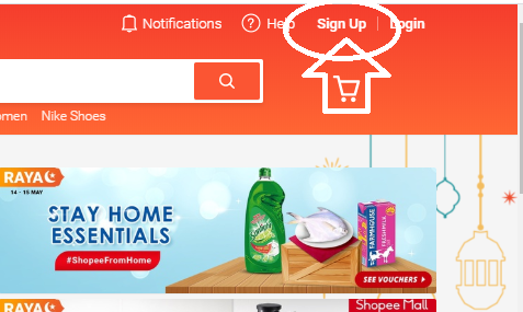 sign up shopee